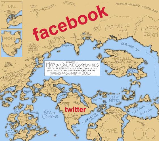 mapa online communities