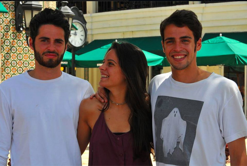 Hijos de Elena: Luís, Natalia y Álvaro