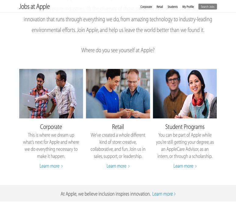JOBS AT APPLE