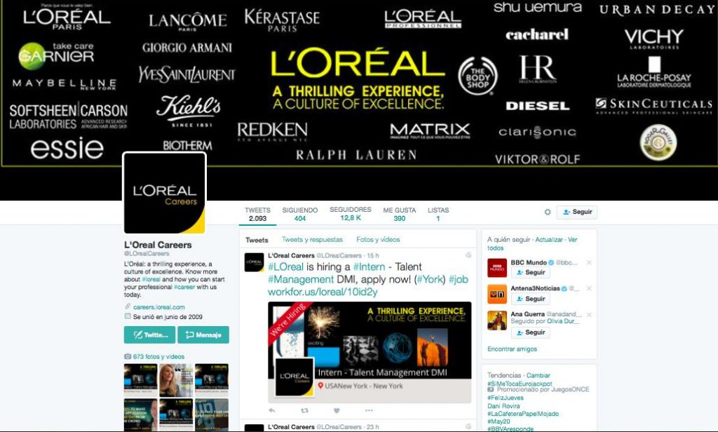 L'Oreal Twitter